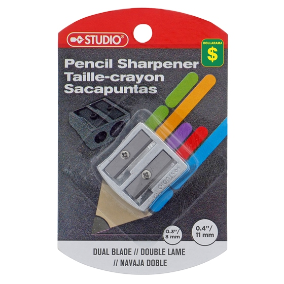 Metal 2 Hole Pencil Sharpener