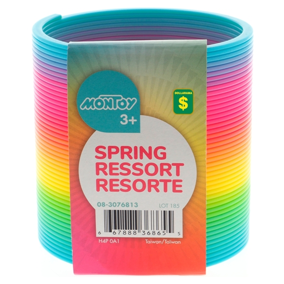 Rainbow Coloured Plastic Spring