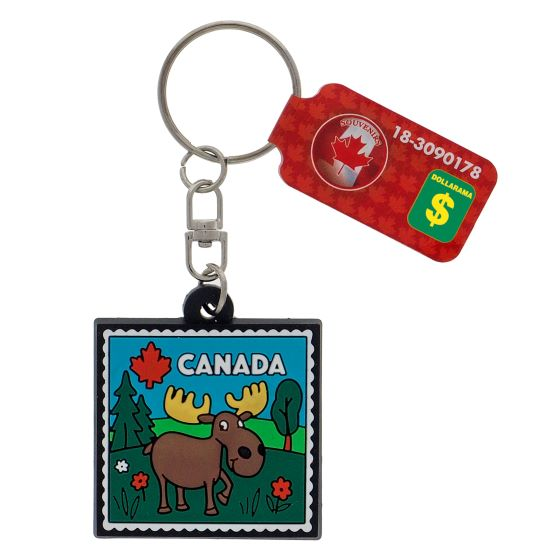 Canada Souvenir Rubber Designs Keychain