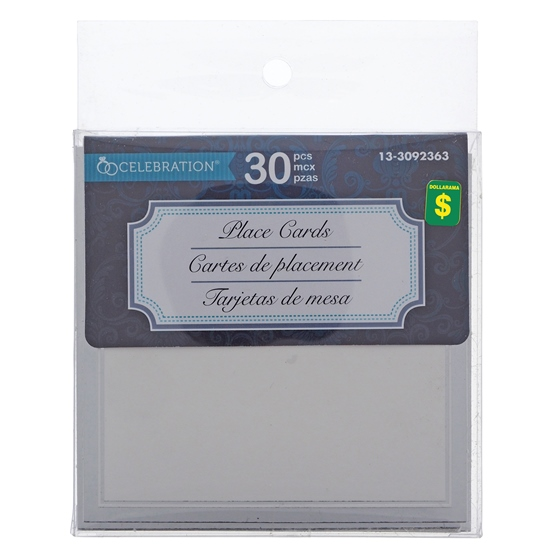 30PK Wedding Place Card With Embossment