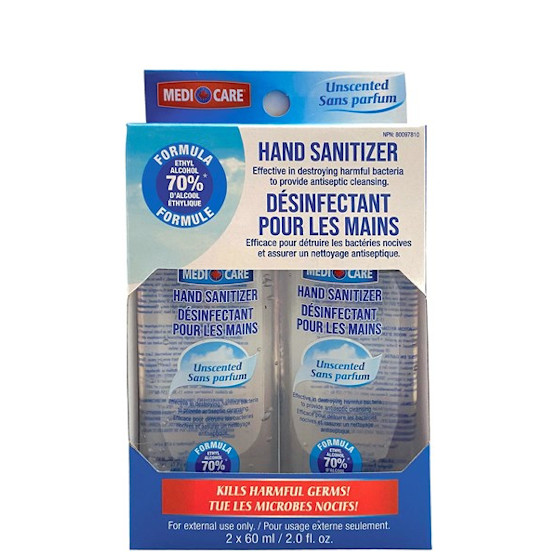 Medicare Hand Sanitizer - 2 X 60ml