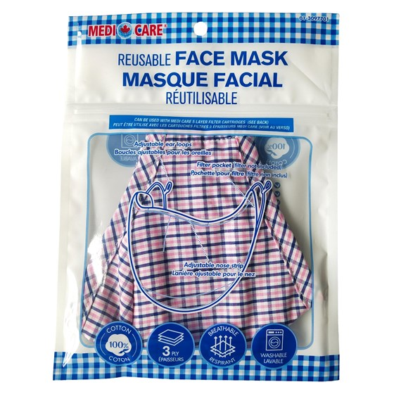Large Adult Cotton Potective Mask - Assorted Designs