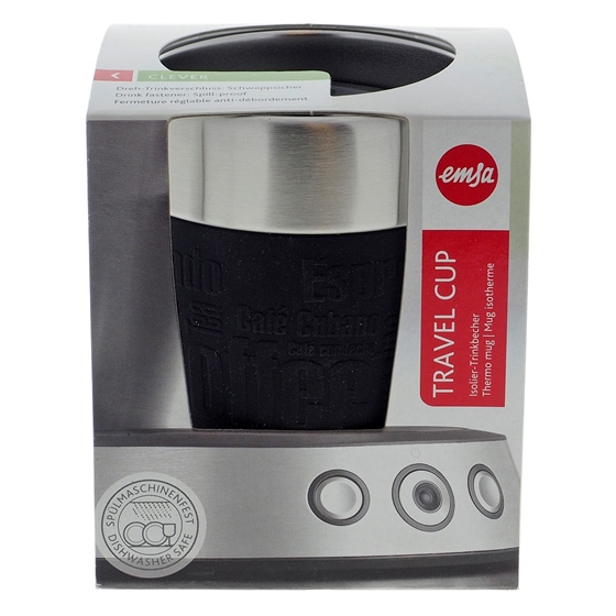 Esma Black Travel Thermo Cup - 6.8 oz