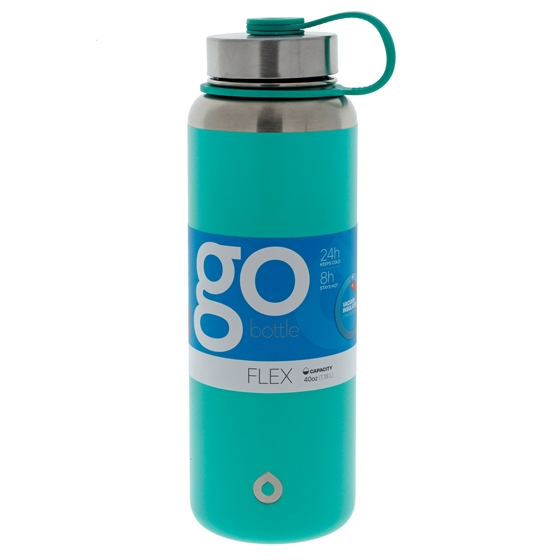 Mint green double wall vacuum insulated bottle - 40 oz