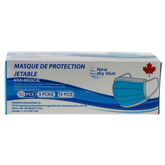 50PK 3 Ply Non Medical Disposable Mask